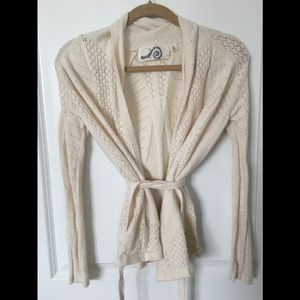 Anthropologie Belted Sweater